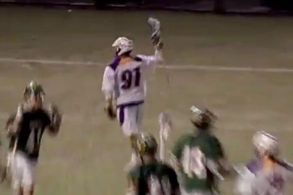 ty-thompson u albany mens lacrosse goal