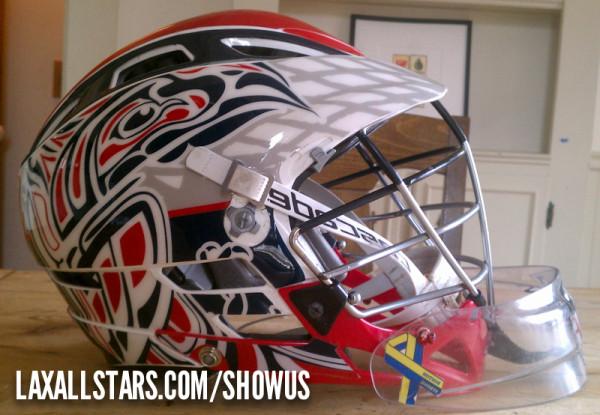 Quint Moores lacrosse helmet