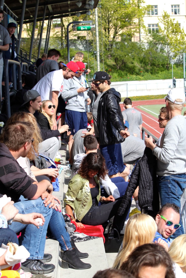 Fans at 2014 Scandinavian Lacrosse Challenge