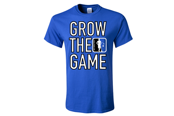 Custom men's Grow The Game t-shirt