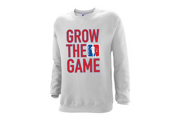 Custom Men's Grow The Game Crewneck Sweatshirt – Ash