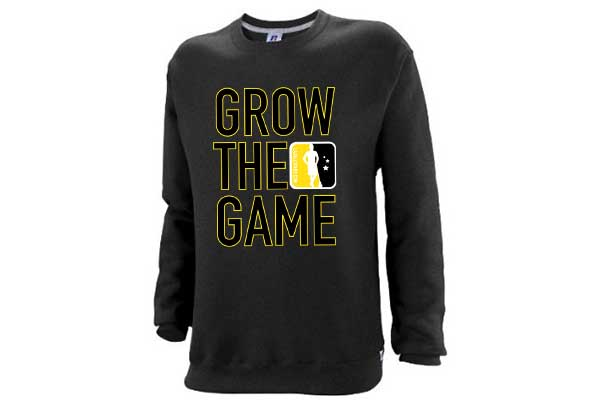 Custom Men's Grow The Game Crewneck Sweatshirt – Black