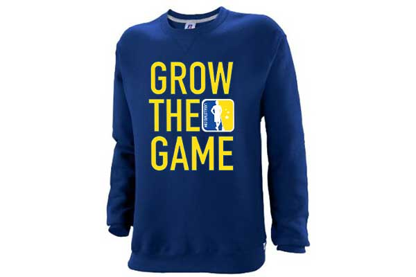 Custom Men's Grow The Game Crewneck Sweatshirt – Navy
