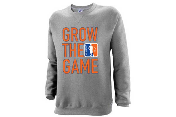 Custom Men's Grow The Game Crewneck Sweatshirt – Oxford