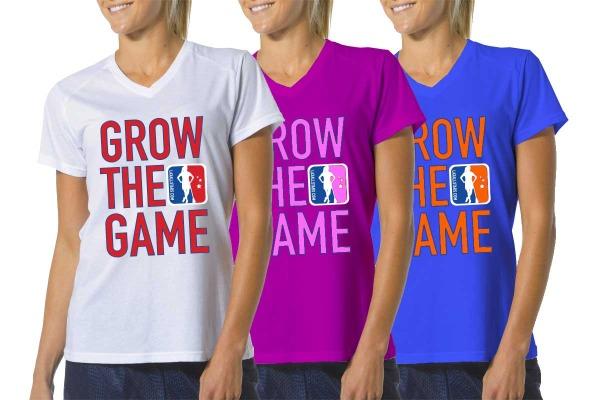Custom Women's Grow The Game Lacrosse T-Shirts