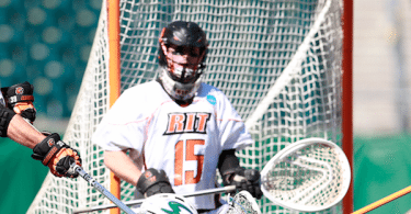 Pat Johnson Goalie RiT lacrosse