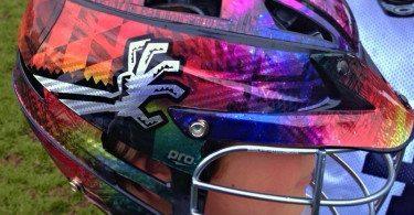 Ryan Beckman lacrosse helmet