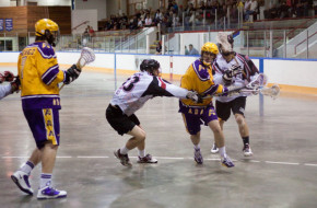 Coquitlam Adanacs vs Delta Islanders BCJALL box lacrosse in british columbia
