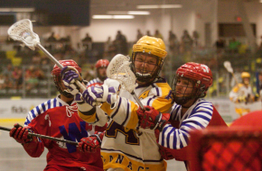 Coquitlam Adanacs vs. New Westminster Salmonbellies BCJALL Photo Credit: Paul Sparrow