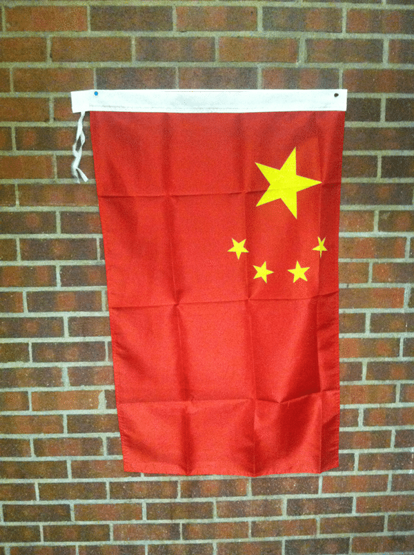 China flag in Denver University dorm