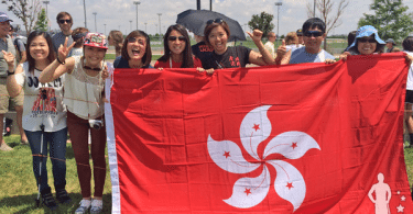 Hong Kong Lacrosse Team Fans 2014 World Lacrosse Championship