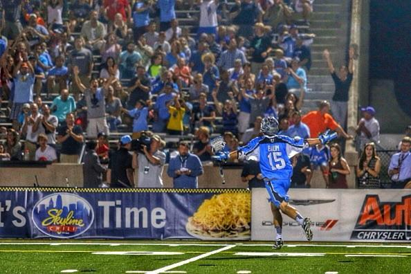 Peter Baum Celebrates Ohio Machine Playoff Clinching Win over Florida Launch