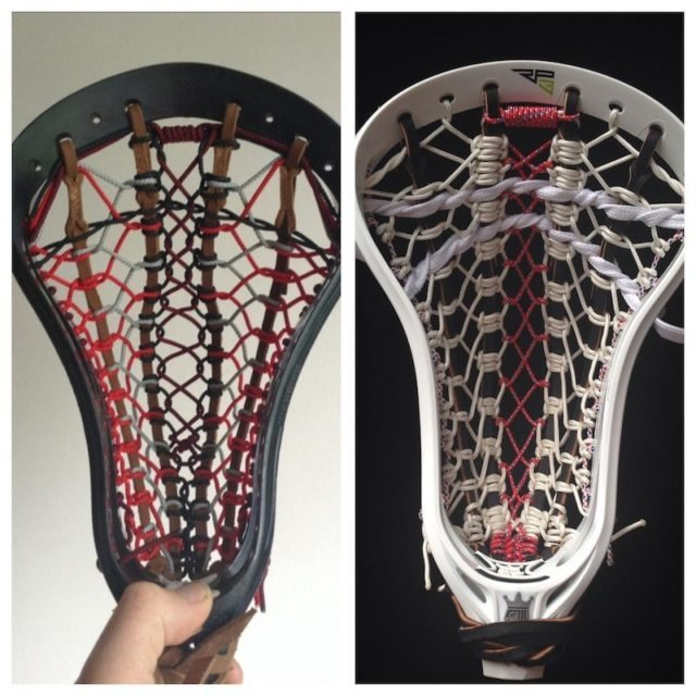 english lacrosse stringing traditional