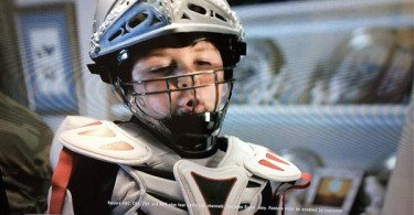 Warrior Paul Rabil lacrosse shoulder pads in DISH Network commercial