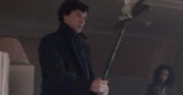 Sherlock finds a lacrosse stick in Sherlock PBS tv show