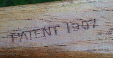 1907 wooden lacrosse stick