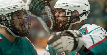 Six Nations Chiefs vs Victoria Shamrocks 2014 Mann Cup box lacrosse Credit: Vintage Lax