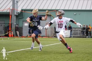 Seatown Classic US Men's National Lacrosse Team vs Notre Dame in Seattle, Washington 10.18.2015 College Lacrosse VS Pro Lacrosse