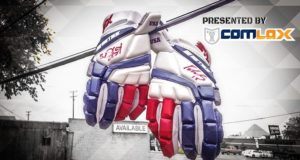 Win Team USA Gloves signed by Baum and Harrison