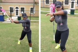 serena williams plays lacrosse