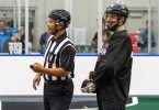 Vancouver Stealth Pre Season Officials Helmets Credit: Garrett-James