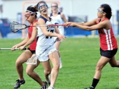 WOULD HELMETS MAKE GIRLS' LACROSSE MORE DANGEROUS?