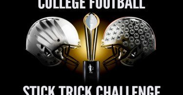 College Football Stick Trick Challenge
