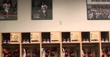 RIT men's lacrosse locker room