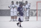 snow lacrosse photos Loyola holy cross