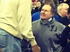 Bill Belichick Wearing Warrior Hoodie at Kentucky Basketball Game