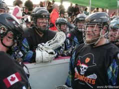 Nova Scotia Privateers Ales Hrebesky Memorial 2015 box lacrosse tournament