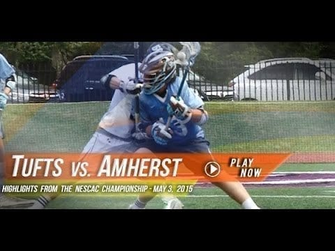 Tufts vs. Amherst: NESCAC Championship | 2015 Lax.com College Highlight