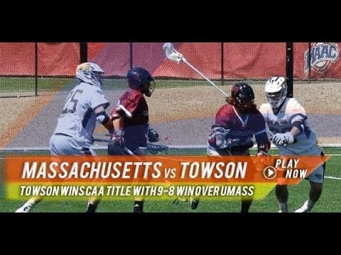 UMass vs Towson | 2015 College Lacrosse Highlights
