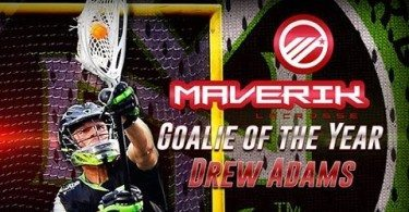 2015 Maverik Goalie of the Year: Drew Adams