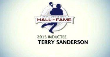NLL: Hall of Fame Ceremony for Terry Sanderson – Class of 2015