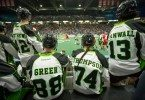 Rush Bench Zack Greer SK Jeremy Thompson SK Jeff Cornwall SK Mark Matthews Photo by Josh Schaefer/Saskatchewan Rush