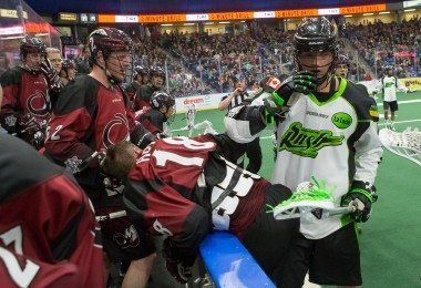 Saskatchewan Rush vs Colorado Mammoth NLL Week 5 2016 Photo Credit: Josh Schaefer / Saskatchewan Rush