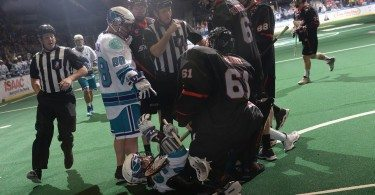 Rochester Knighthawks Vancouver Stealth NLL 2016 Photo: Micheline V / Rochester Knighthawks