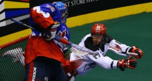 Curtis Dickson Calgary Roughnecks Toronto Rock NLL 2016 Photo: Brad Watson