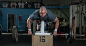 Scott Rodgers lifting - Photo courtesy Lacrosse Magazine