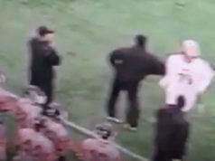 lacrosse coach bumps player coaches