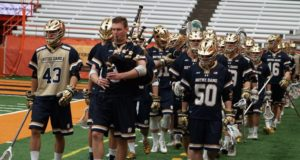 notre dame may lacrosse bagpipes earth shattering