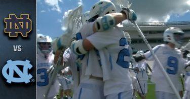 Notre Dame vs. North Carolina Men's Lacrosse Highlights (2016)