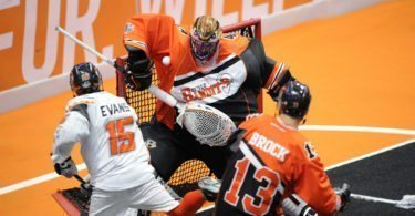 Buffalo Bandits New England Black Wolves Anthony Cosmo Shawn Evans NLL 2016 Playoffs Photo: Khoi Ton
