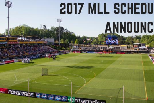 Major League Lacrosse - MLL - 2017 schedule