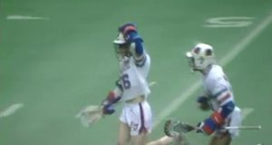 College lacrosse game film from 1987